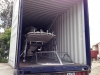 Boat inside container 14