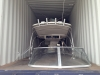 Boat inside container 13