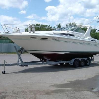 Sea Ray 300 Sundancer with Tri-axle Trailer