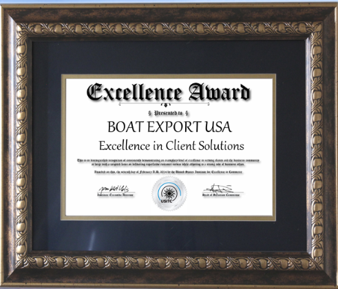 Boat Export USA Excellence Award